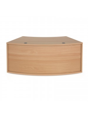 Denver reception 45° curved base unit 1800mm - beech