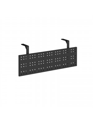 Steel perforated modesty panel for use with 1200mm single desks - black