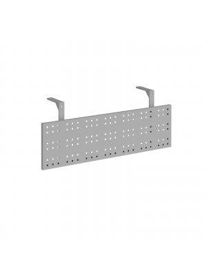 Steel perforated modesty panel for use with 1200mm single desks - silver