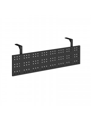 Steel perforated modesty panel for use with 1400mm single desks - black