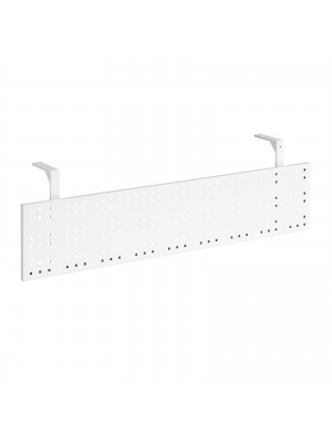 Steel perforated modesty panel for use with 1600mm single desks - white