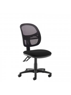 Jota Mesh medium back operators chair with no arms - black