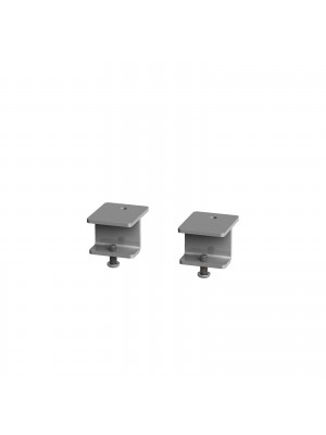 Glazed screen brackets for single Adapt and Fuze desks or runs of single desks (pair) - silver