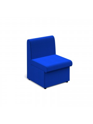 Alto modular reception seating with no arms - blue