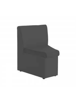Alto modular reception seating concave with no arms - charcoal