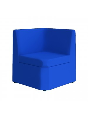 Alto modular reception seating corner unit - blue