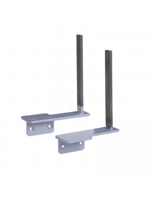 Aluminium framed screen brackets (pair) to fit on desk return - black