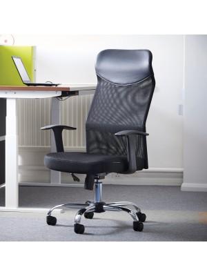 Aurora high back mesh operators chair - black