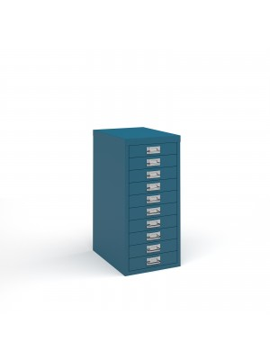 Bisley multi drawers with 10 drawers - blue