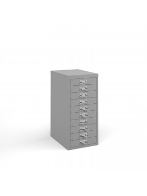 Bisley multi drawers with 10 drawers - grey