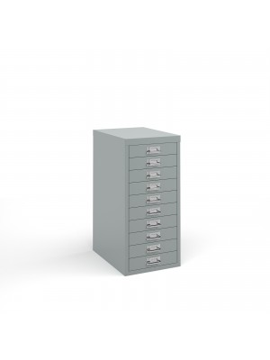 Bisley multi drawers with 10 drawers - silver