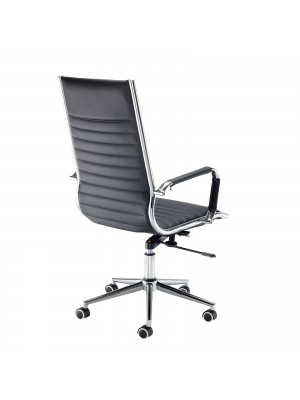 Bari high back executive chair - black faux leather