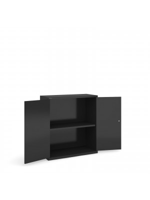 Extra shelf for steel storage cupboards - black