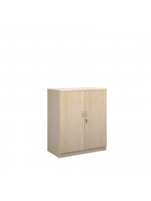 Deluxe double door cupboard 1200mm high with 2 shelves - maple