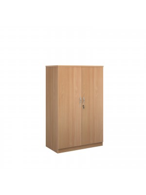 Deluxe double door cupboard 1600mm high with 3 shelves - beech