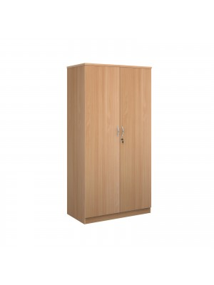 Deluxe double door cupboard 2000mm high with 4 shelves - beech