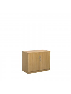 Deluxe double door cupboard 800mm high with 1 shelf - oak
