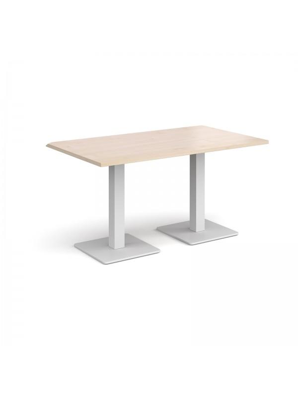 Fine Brescia Rectangular Dining Table With Flat Square White Uwap Interior Chair Design Uwaporg