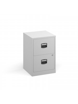 Bisley A4 home filer with 2 drawers - white