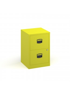 Bisley A4 home filer with 2 drawers - yellow