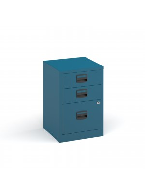 Bisley A4 home filer with 3 drawers - blue