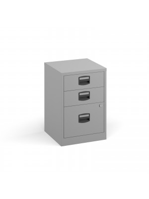 Bisley A4 home filer with 3 drawers - grey