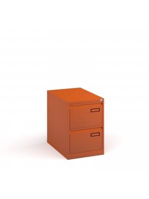 Bisley steel 2 drawer public sector contract filing cabinet 711mm high - orange