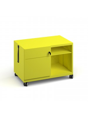 Bisley steel caddy left hand storage unit 800mm - yellow