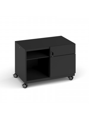 Bisley steel caddy right hand storage unit 800mm - black