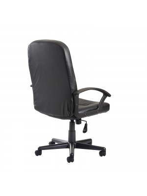 Cavalier high back managers chair - black leather faced