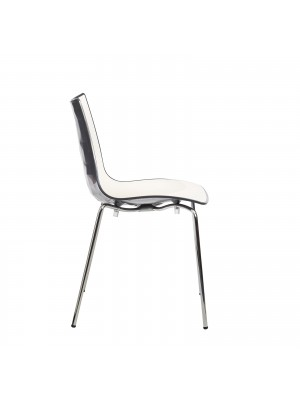 Gecko shell dining stacking chair with anthracite legs - anthracite