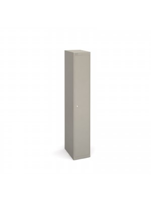 Bisley lockers with 1 door 457mm deep - grey