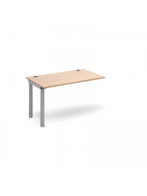 Connex add on unit single 1200mm x 800mm - silver frame, beech top