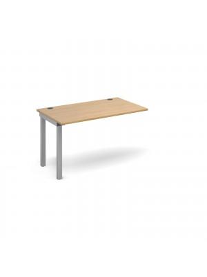 Connex add on unit single 1200mm x 800mm - silver frame, oak top