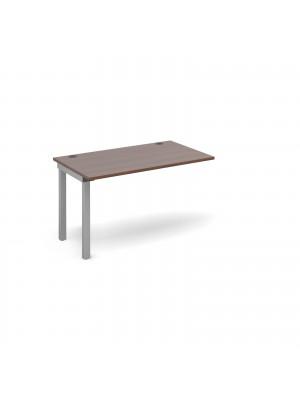Connex add on unit single 1200mm x 800mm - silver frame, walnut top