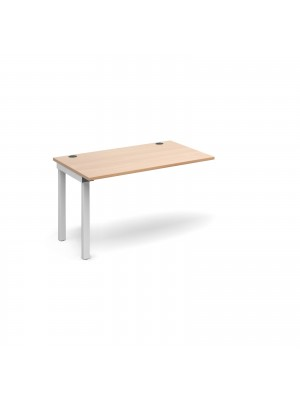 Connex add on unit single 1200mm x 800mm - white frame, beech top