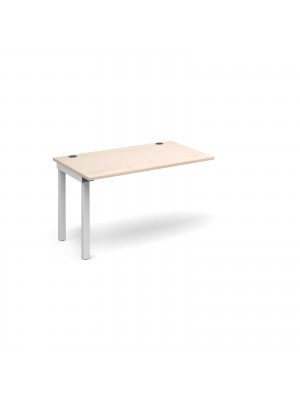 Connex add on unit single 1200mm x 800mm - white frame, maple top