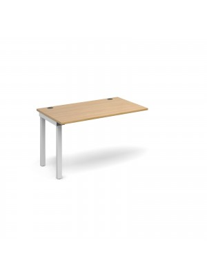 Connex add on unit single 1200mm x 800mm - white frame, oak top