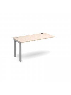 Connex add on unit single 1400mm x 800mm - silver frame, maple top