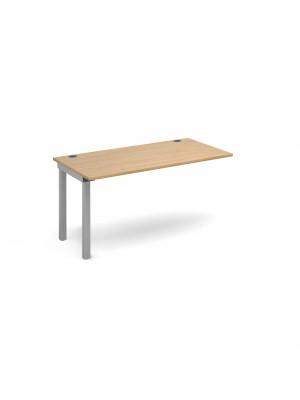 Connex add on unit single 1400mm x 800mm - silver frame, oak top