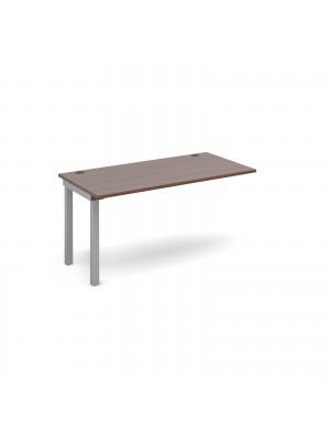 Connex add on unit single 1400mm x 800mm - silver frame, walnut top