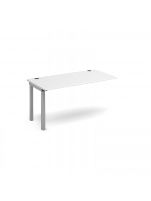 Connex add on unit single 1400mm x 800mm - silver frame, white top