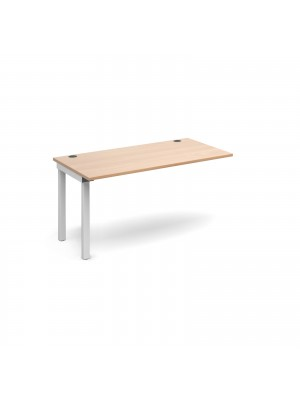 Connex add on unit single 1400mm x 800mm - white frame, beech top