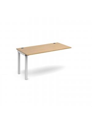 Connex add on unit single 1400mm x 800mm - white frame, oak top