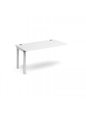 Connex add on unit single 1400mm x 800mm - white frame, white top