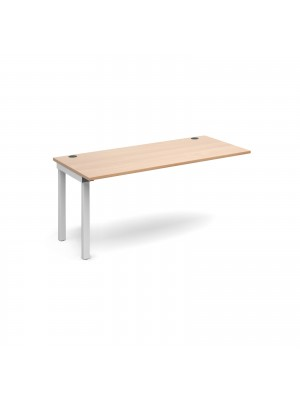Connex add on unit single 1600mm x 800mm - white frame, beech top