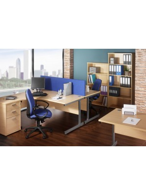 Contract 25 1600 x 800 x 725mm Straight Desk - Walnut / Graphite leg frame