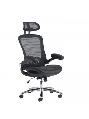 Curva high back mesh chair - black