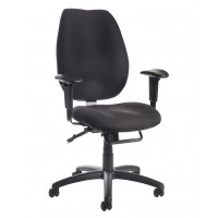 Cornwall multi functional operator chair - black