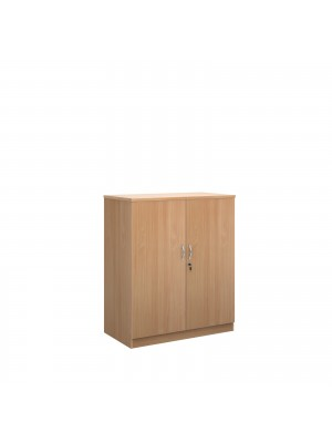Systems double door cupboard 1200mm high - beech